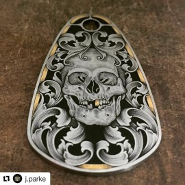 Jeff Parke: Engraving on steel, Inlay